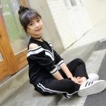 เสื้อ+กางเกง สีดำ แพ็ค 6 ชุด ไซส์ 110-120-130-140-150-160