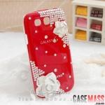 เคส s3 Case Samsung Galaxy s3 III i9300 เคสดอกกุหลาบประดับ เพชร คริสตัล หรูหรา ไฮโซ สวยมากๆ The Rose rhinestone