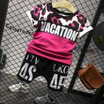 เสื้อ+กางเกง สีโรส แพ็ค 5 ชุด ไซส์ 7-9-11-13-15