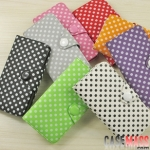 case iphone 5 เคสไอโฟน5 เคสกระป๋าฝาพับข้างลายจุดสวยน่ารักสุดๆ Korea the iPhone5 holster polka dot