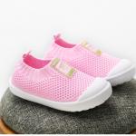 รองเท้าผ้าใบเด็ก สีชมพู แพ็ค 6 คู่ ไซส์ 23-24-25-26-27-28