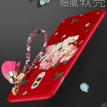 เคส Samsung J7+ (J7 Plus) พลาสติกลายfดอกไม้ พร้อมที่คล้องมือ สวยมากๆ ราคาถูก