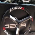 ล้อเสือหมอบ Deca Carbon spoke wheel ,ล้อหน้า 3 ก้าน ,700x23c