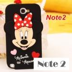 Case Samsung Galaxy Note 2 การ์ตูน Mickey Minnie Mouse ซิลิโคนนิ่มๆ น่ารักๆเคสมือถือราคาถูกขายปลีกขายส่ง