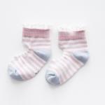 ถุงเท้าสั้น สีชมพู แพ็ค 10 คู่ ไซส์ อายุประมาณ 4-6 ปี