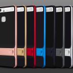 เคส Huawei P9 พลาสติก TPU + PC สามารถกางออกมาตั้งได้ สวยงามมาก ราคาถูก