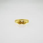 แหวนทองซิทรีน 3 เม็ด