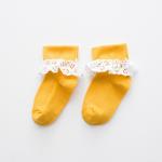 ถุงเท้าสั้น สีเหลือง แพ็ค 10 คู่ ไซส์ ประมาณ 7-10 ปี