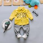เสื้อ+กางเกง สีเหลือง แพ็ค 4 ชุด ไซส์ 6-8-10-12 (เหมาะสำหรับ 6ด.-4ปี)