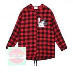 เสื้อแฟชั่น Dongguk L LOVE 2014 แดง ดำ (แขนยาว)