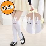 [ไซส์เด็ก] K6900 ถุงน่องเด็ก แบบสีขาวครึ่งขา ลายกระต่ายน้อย Little Bunny
