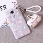 เคส Huawei GR5 พลาสติก TPU ลายดอกไม้แสนน่ารัก พร้อมสายคล้องมือและกระเป๋าเก็บสายหูฟัง ราคาถูก