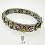 กำไลเงินพลอยแฟนซี (Fancy Gemstones silver bracelet)