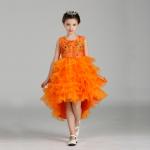 ชุดกระโปรง สีส้ม แพ็ค 6 ชุด ไซส์ 90-100-110-120-130-140 (เลือกไซส์ได้)
