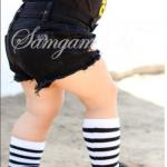 กางเกง สีดำ แพ็ค 5 ชุด ไซส์ 80-90-100-110-120 (เลือกไซส์ได้)