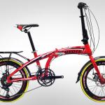จักรยานพับได้ COYOTE AERO 14 SPEED เฟรมอลู ล้อ 20นิ้ว 2017