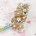 case iphone 5 เคสไอโฟน5 เคสประดับเพชรเม็ดใหญ่ดอกไม้กระเป๋าเพชร หรูหราสวยเว่อร์ๆ rhinestones luggage