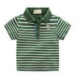 เสื้อ สีเขียว แถบขาว แพ็ค 5 ชุด ไซส์ 100-110-120-130-140