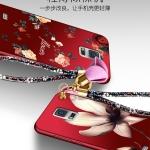 เคส Samsung Note 4 พลาสติกลายดอกไม้แสนสวยพร้อมสายคล้องมือ น่ารักมากๆ ราคาถูก