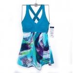 พร้อมส่งชุดว่ายน้ำคนอ้วนสีฟ้าอมเขียว-4XL(39-42)