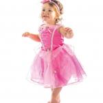 ชุดเจ้าหญิง สีชมพู แพ็ค 5ชุด ไซส์ 90-100-110-120-130 (เลือกไซส์ได้)