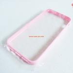 เคสไอโฟน 5 ขอบยาง หลังใส สีชมพู