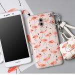 เคส Huawei GR5 (2017) พลาสติก TPU ลายฟลามิงโกน่ารักๆ พร้อมสายคล้องมือและกระเป๋าเก็บสายหูฟัง ราคาถูก