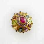 แหวนพลอยนพเก้า (Fancy Silver Ring)