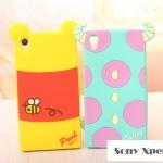 เคสโซนี่ Z1 Case Sony Xperia Z1 ซิลิโคนด้านหลังของการ์ตูนดิสนีย์ มินนี่ แซลลี่ หมีพูห์ มิกกี้