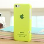 เคสไอโฟน5c เคสพลาสติกโปร่งแสง บางๆ สีพื้นเรียบๆ Apple's ultra-thin transparent frosted
