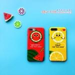 เคส iPhone 6 Plus / 6s Plus (5.5 นิ้ว) พลาสติกลายผลไม้สีสันสดใสน่ารักๆ ราคาถูก