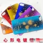 case iphone 5 เคสไอโฟน5 เคสสีเหลือบเงาๆ ลายหัวใจ มีหลายสีให้เลือก