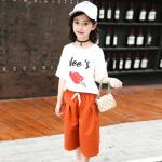 เสื้อ+กางเกง สีขาว เเพ็ค 5 ชุด ไซส์ 120-130-140-150-160