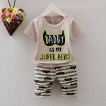 ชุดเซต daddy is my super hero [size 6m-2y]