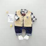 เสื้อกั๊ก+เสื้อตัวใน+กางเกง สีน้ำเงิน แพ็ค 4 ชุด ไซส์ 70-80-90-100
