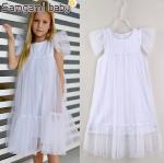 ชุดกระโปรง สีขาว แพ็ค 5ชุด ไซส์ 90-100-110-120-130 (เลือกไซส์ได้)
