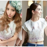 Kayasis Sweet Beautiful Swan Printed Top เสื้อแขนสั้นพิมพ์ลายหงส์