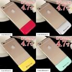 เคส iphone 6 4.7 นิ้ว ซิลิโคน TPU เก๋ไก๋ด้วยส่วนท้ายสีสันสดใส ราคาถูก