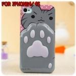 case iphone 4/4s เคสไอโฟน4/4s เคสซิลิโคน ฝ่าเท้าน้องแมว นิ่มๆ น่ารักสุดๆ