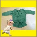 ชุดเซ็ตเสื้อสูท กางเกงขาสั้น ผ้าฝ้ายสีเขียวขี้ม้า เนื้อนิ่ม สวยน่ารักมากค่ะ Disney Animators' Collection Doll - 16'' (พร้อมส่ง)
