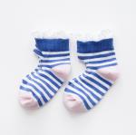 ถุงเท้าสั้น สีน้ำเงิน แพ็ค 10 คู่ ไซส์ อายุประมาณ 4-6 ปี