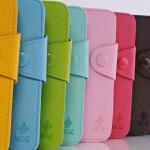 เคส S3 Case Samsung Galaxy S3 เคสหนังฝาพับข้างสีสดสวย มีหลายสีให้เลือก Korea the MOZ Samsung I9300 solid color leather case