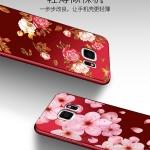 เคส Samsung S6 ซิลิโคนแบบนิ่ม สกรีนลายดอกไม้ สวยงามมากพร้อมสายคล้องมือ ราคาถูก (ไม่รวมแหวน)