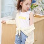 เสื้อตัวนอก+เสื้อตัวใน สีเหลือง แพ็ค 5 ชุด ไซส์ 120-130-140-150-160 (เลือกไซส์ได้)