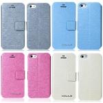 case iphone 5 HOLILA เคสหนังผิวเป็นประกายไหมสวยๆ พับตั้งได้ ใส่บัตรได้ เคสมือถือราคาถูกขายปลีกขายส่ง