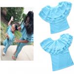 เสื้อ(แม่) สีฟ้า แพ็ค 5 ชุด ไซส์ S-M-L-XL-XXL (เลือกไซส์ได้)