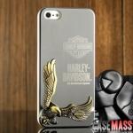 case iphone 5 เคสไอโฟน5 HARLEY-DAVIDSON 3D รูปนกอินทรีย์โลหะ 3D เท่ๆ เงาๆ แกร่งๆ สวยมาก HARLEY-DAVIDSON AN AMERICAN LEGEND iPhone5 protective shell Harley Eagle Metal Rhinestone
