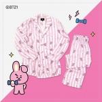 #BT21 PAJAMAS ชุดนอน (เสื้อ+กางเกง) : COOKY