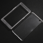 เคส OPPO R7S พลาสติก PC โปร่งใสแบบประกบหน้า-หลัง ราคาถูก