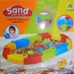 กระบะเล่นทราย #606 ขนาด 81x148 ซม. ที่เล่นทรายของเด็กพร้อมอุปกรณ์